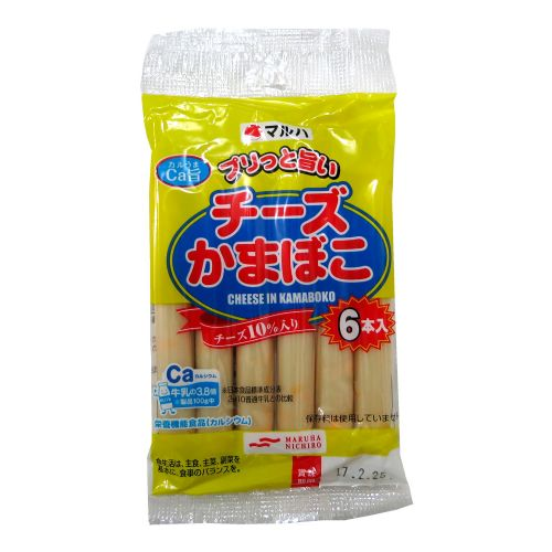 日本进口Maruha马露霞10%芝士鱼肉肠加钙6条装