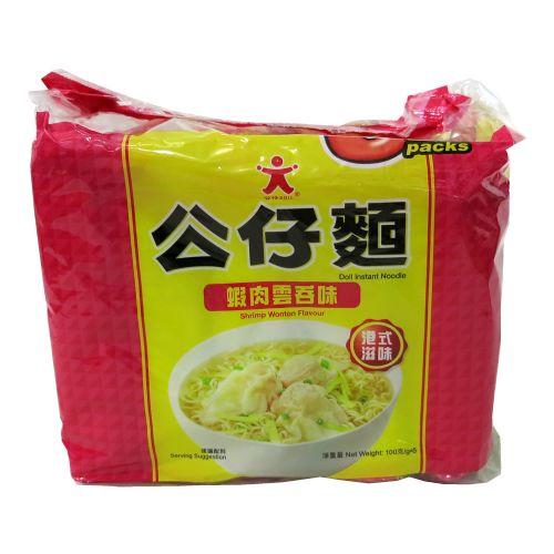 香港虾肉云吞面公仔面6包装