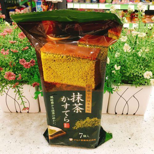 日本京都宇治抹茶海绵蜂蜜蛋糕7块入