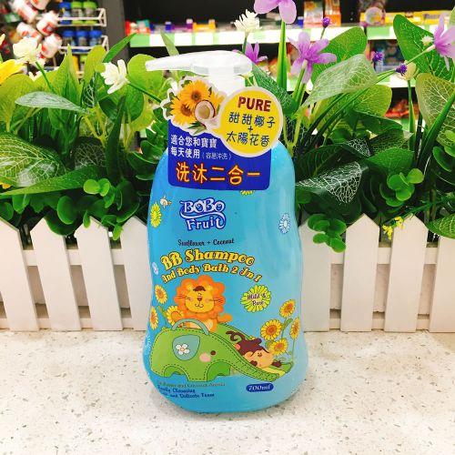 香港抱抱果儿太阳花+椰子二合一洗发沐浴露700ml(温和配方)