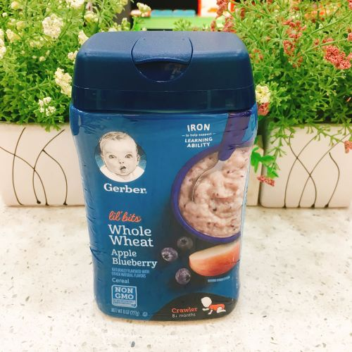 美国嘉宝婴儿米糊米粉(蓝莓苹果味)8个月以上
