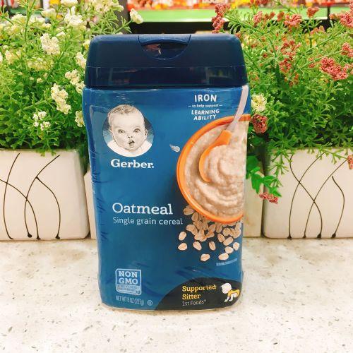 美国嘉宝婴儿米糊米粉(燕麦味)1段