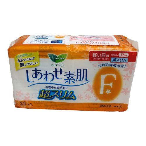花王乐而雅超薄日用卫生巾32片17cm