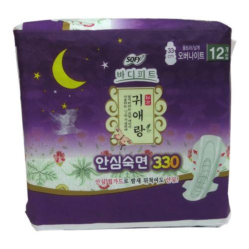 贵爱娘SOFY韩方中草药护翼卫生巾/棉33cm 12片 夜用