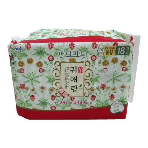 韩国LG贵爱娘中草药无荧光剂卫生巾(大)25cm 18片 日用