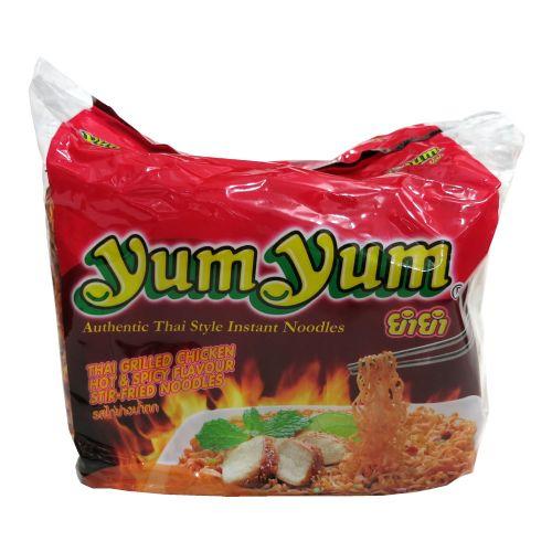 养养牌5包装干拌面捞面(泰式香辣烤鸡味)70g×5包