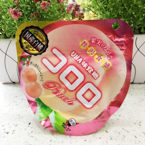 日本UHA味觉糖100%究极水蜜桃软糖QQ糖40g