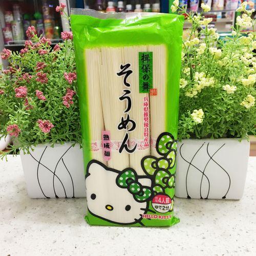 日本进口Kanesu hello kitty揖保之舞宝宝辅食婴儿挂面细面条360g