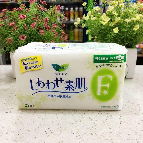 日本花王乐而雅日用卫生巾22片22.5cm