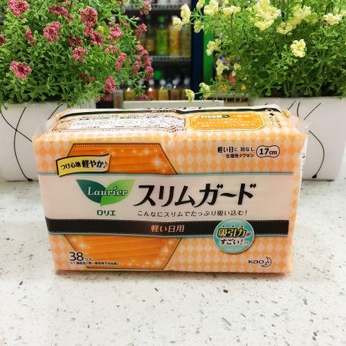 花王乐而雅轻薄日用卫生巾38片17cm