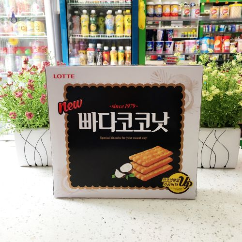 韩国乐天蜂蜜椰奶饼干300克大盒蜂蜜烤制酥脆饼干