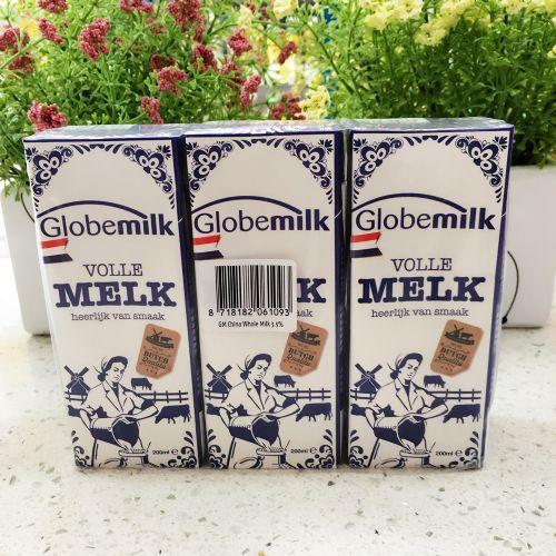 荷兰荷高全脂纯牛奶200ml*3