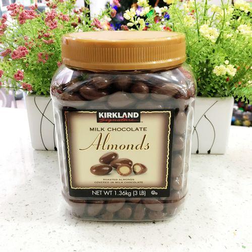 美国原装进口Kirkland柯可蓝杏仁牛奶巧克力豆1.36kg