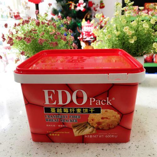 EDO Pack 蔓越莓纤麦饼干600g