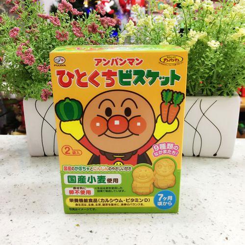 日本不二家面包超人野菜水果人形饼72g(盒装)