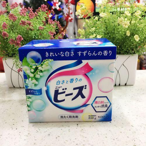 日本花王净白护色洗衣粉8500g清爽除菌无磷无荧光剂铃兰香