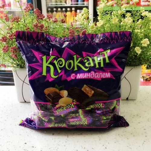 俄罗斯KPOKAHT紫皮糖脆皮巧克力糖500g