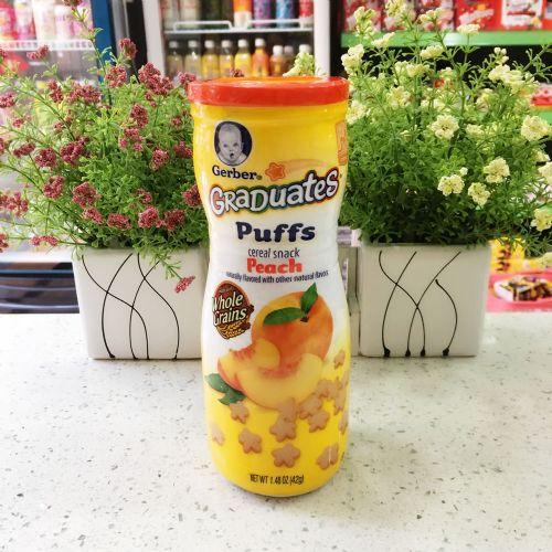 美国嘉宝Gerber GraDuates Puffs 纪念版泡芙42g 水蜜桃味