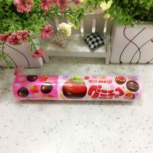 明治橡皮巧克力草莓味50g