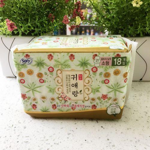 韩国贵爱娘日用卫生巾18片21cm