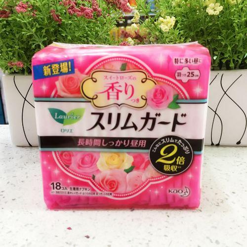 日本花王乐而雅S系列玫瑰香型卫生巾 日用25cm18片
