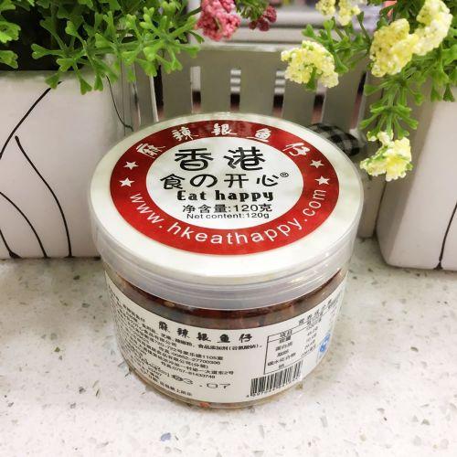香港食の开心麻辣银鱼仔120g