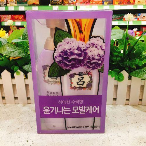 韩国爱茉莉紫吕洗发水套装400ml+180ml