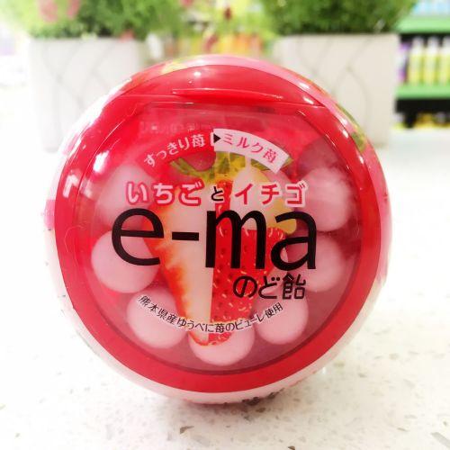 UHA味觉e-ma 特浓草莓润喉糖33g(圆樽装)