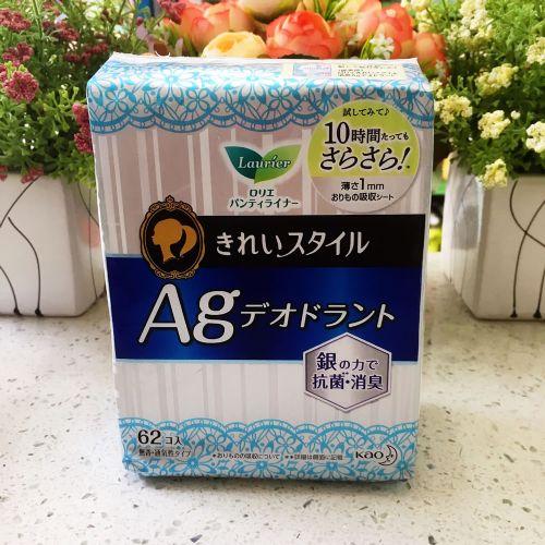 日本花王乐而雅抗菌消臭护垫62片