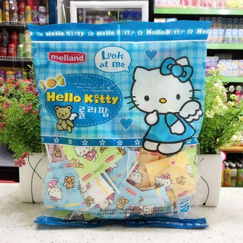 韩国MELLAND HELLO KITTY棒棒糖(蓝色)500G