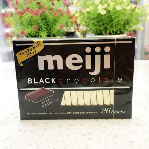 日本Meiji明治纯黑钢琴巧克力26枚朱古力120G