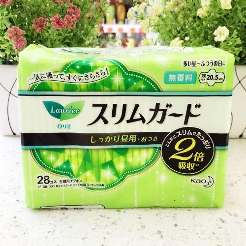 日本花王乐而雅无香料超薄卫生巾20.5CM28片