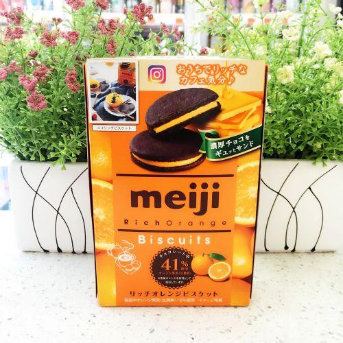 明治香橙夹心朱古力饼干6枚(盒装)