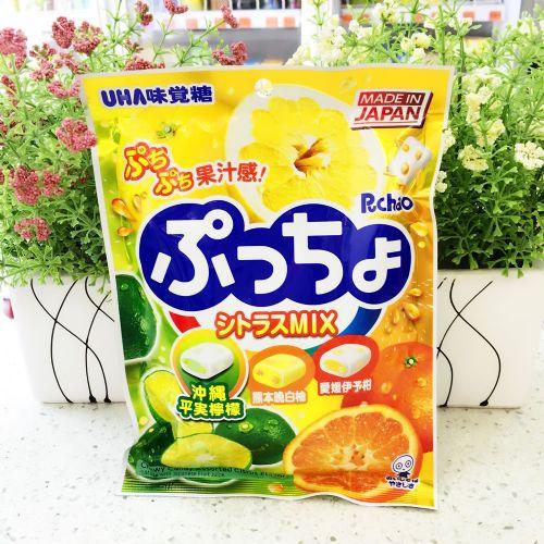 日本悠哈UHA味觉糖90g(柠檬、柚子、橙味)