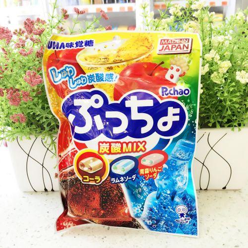 日本悠哈UHA味觉糖90g(梳打、可乐味)