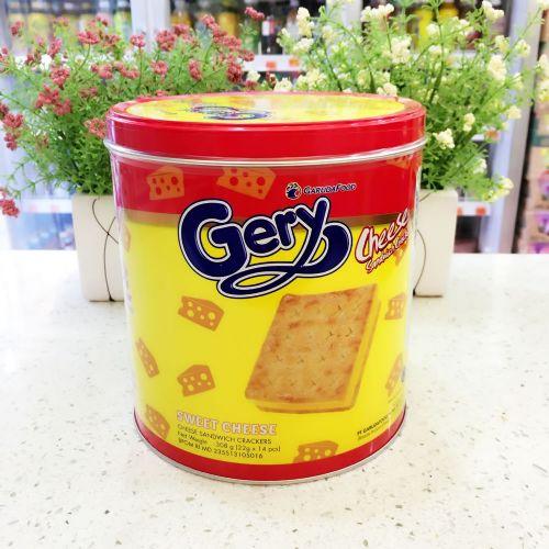 印尼Gery芝莉奶酪味夹心饼干(罐装)308g