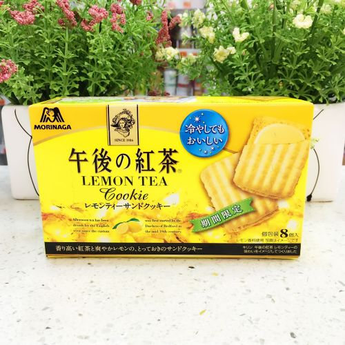 日本森永午后红茶柠檬茶忌廉夹心曲奇8个(盒装)