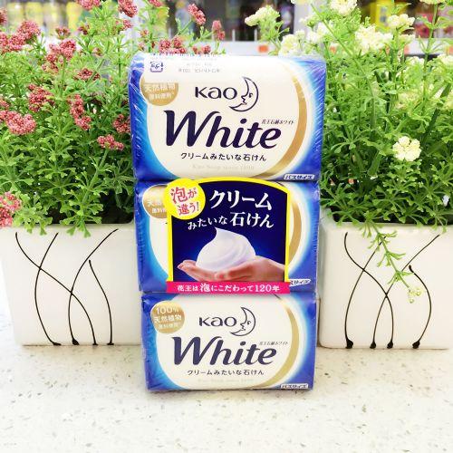 日本花王white100%天然植物沐浴牛奶护肤香皂130g×3