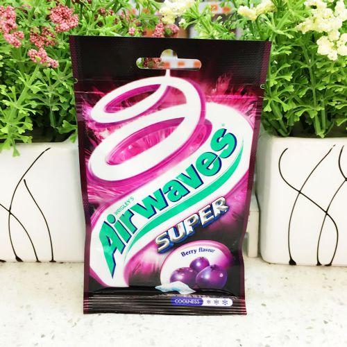 港版爽浪Super无糖香口珠25g(紫冰野莓味)袋装