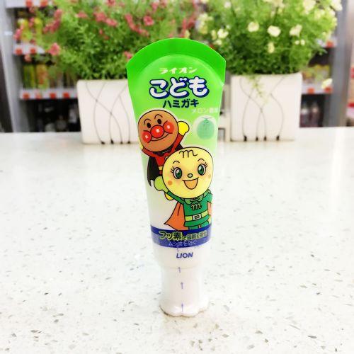 日本狮王面包超人儿童牙膏哈密瓜味40g