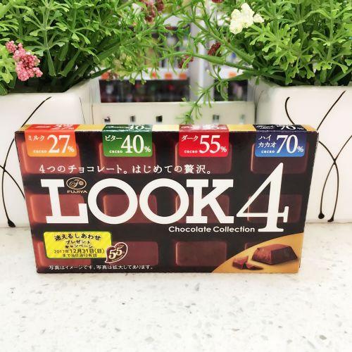 日本不二家LOOK四味朱古力52g(盒装)