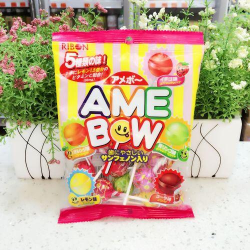 日本RIBON理本5味汽水硬糖/棒棒糖