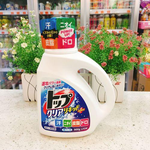 日本狮王TOP强效洁净洗衣液(水润花香)900g