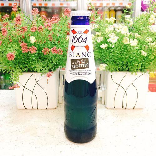 法国克伦堡凯旋1664白啤酒女士果味啤酒蓝色玻璃瓶250ml(原味)