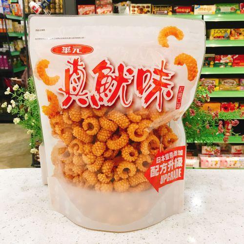 华元红烧口味真鱿味(膨化食品)200g