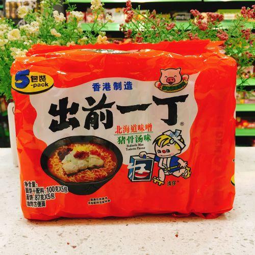 出前一丁北海道味噌猪骨汤味方便面100g×5包