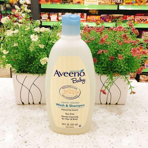 美国Aveeno婴儿洗发沐浴露二合一532ml
