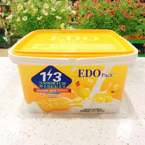 EDO Pack 3+2优格香蕉牛奶味夹心饼干560g