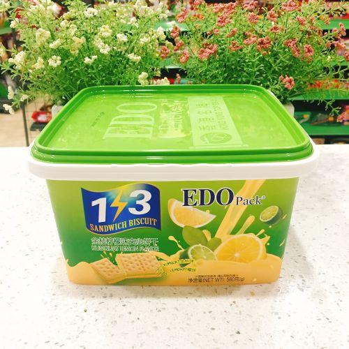 EDO Pack 3+2优格金桔柠檬味夹心饼干560g