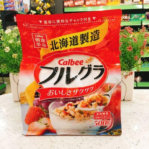日本北海道Calbee卡乐B即食麦片500g